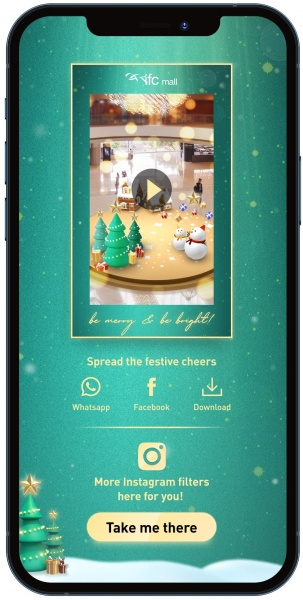 ifc mall glow it up create you own ar christmas town 3
