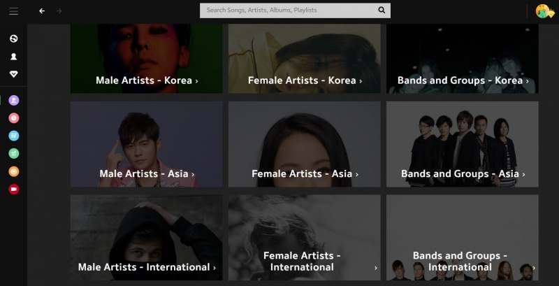 joox huge collection of artists and songs