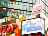 T.O.P. features the adorable LULU the Piggy in mall-wide Valentine's Day installation