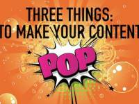 3 things to make your content pop