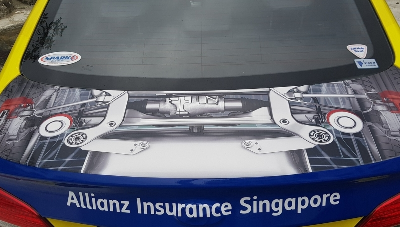 allianz car decal 2