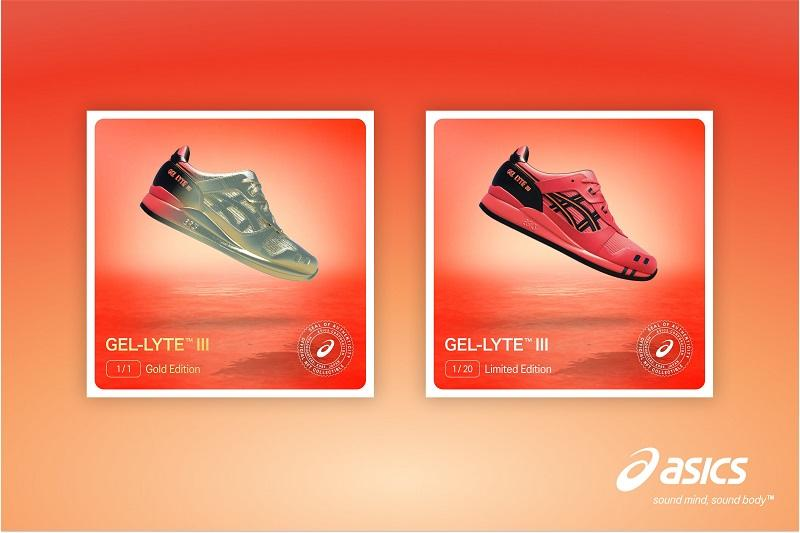 asics nft sunrise red collection