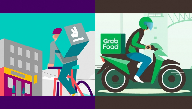 GrabFood Deliveroo