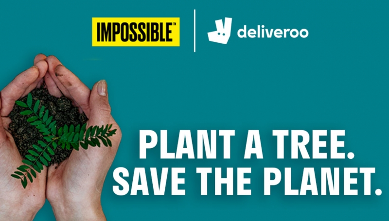Deliveroo, Impossible Foods, trees, plant-based
