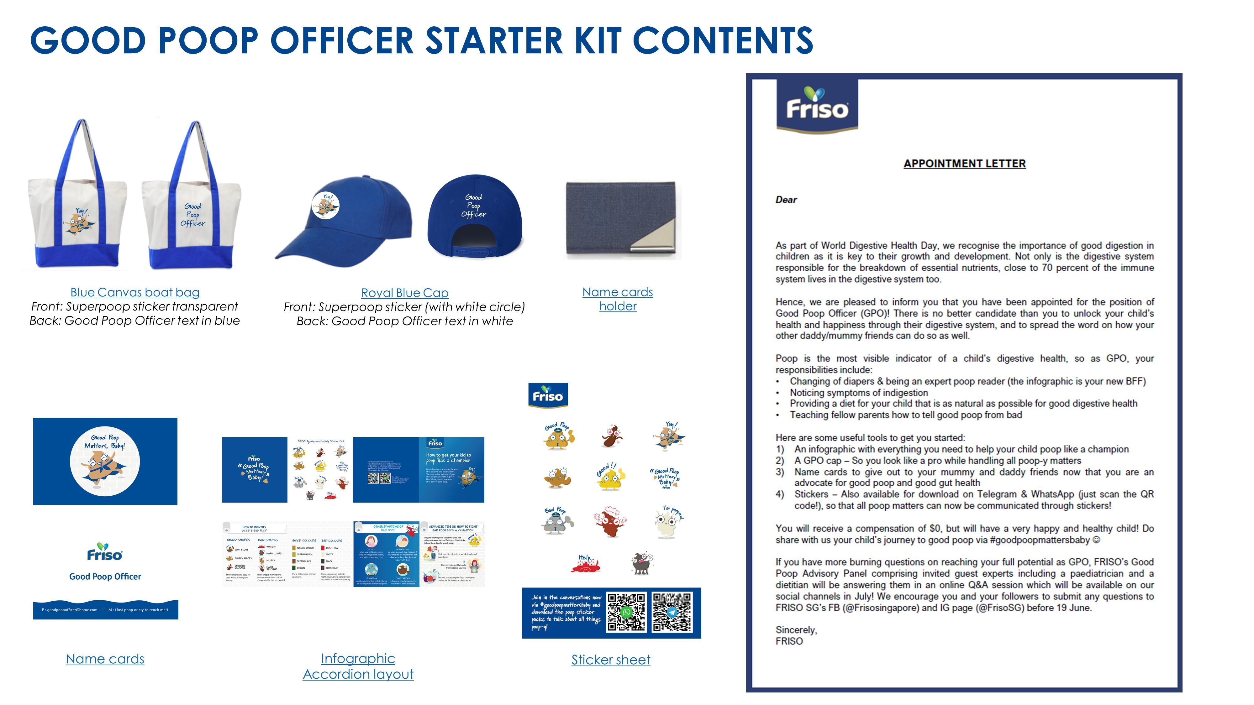 friso good poop officer starter kit content