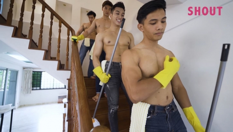 hunky cleaning ad
