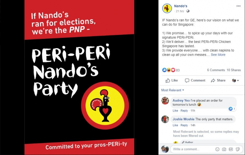 nandos fb elections