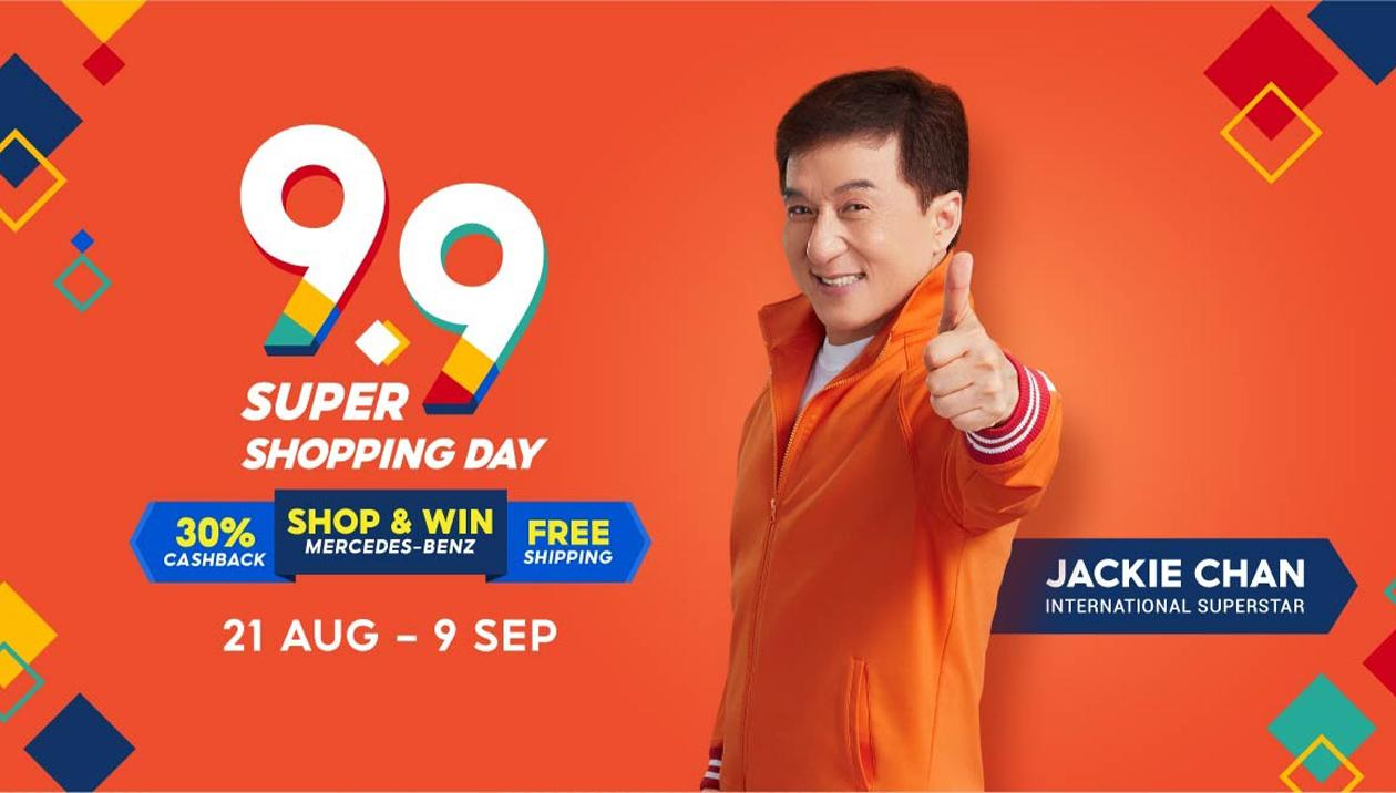 Shopee packs a punch with Jackie Chan as face of 9.9 shopping festival