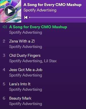 spotify a song for every cmo