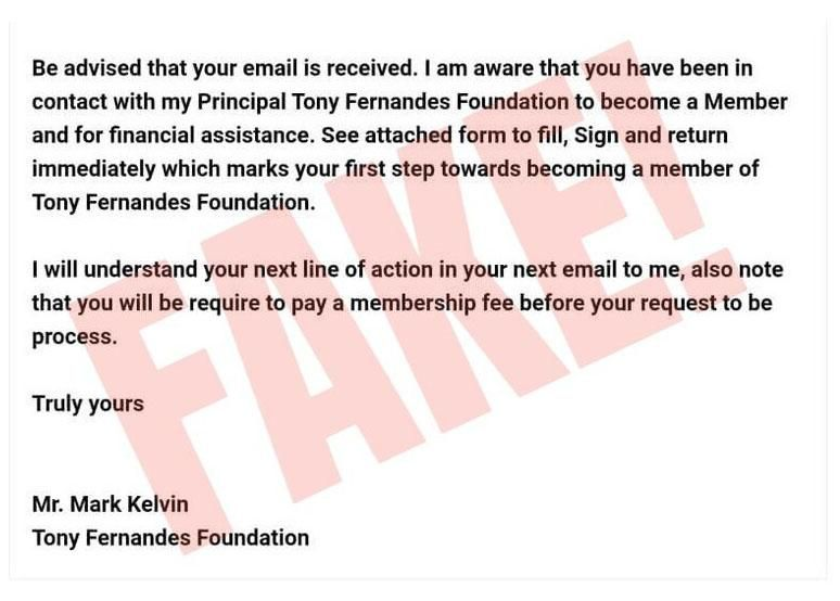 tony fernandes scam 3