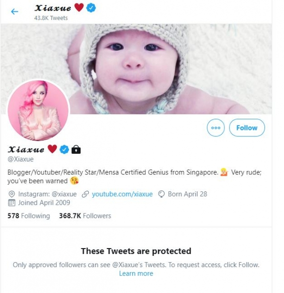 xiaxue private twitter
